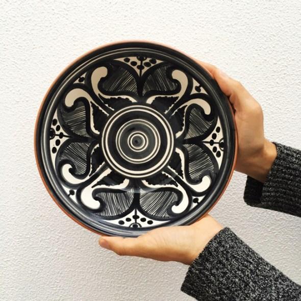Casa Cubista Portugal Keramikschale Salatschüssel Colheita schwarz