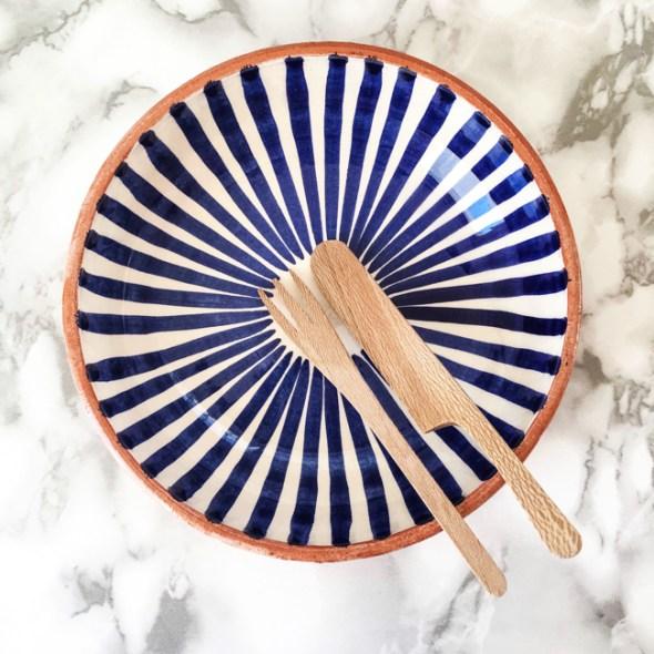 Casa Cubista Keramik Schälchen blau-weiss