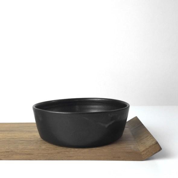schwarze Keramikschale klein