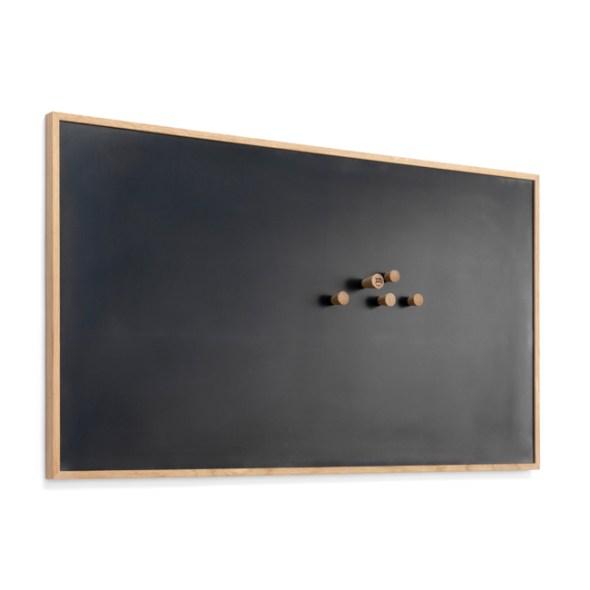 Magnettafel, Memoboard aus Schwarzstahl, Größe L von The Oak Men