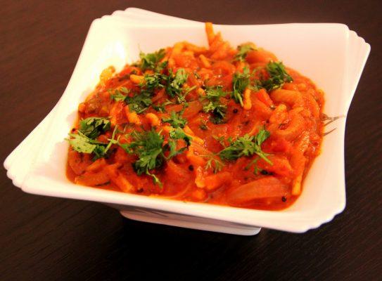 Rajasthani Sev Tamatar Recipe