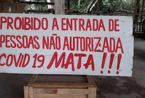 Amazonia Covid Proibido a entrada