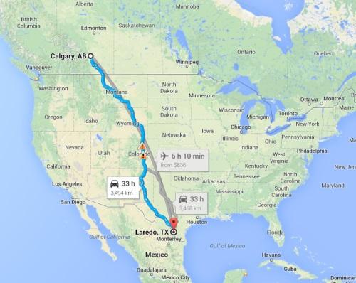 Laredo to Calgary