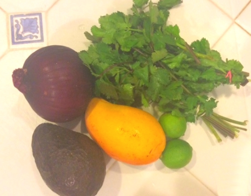 Ingredients for Mango Avocado Salsa