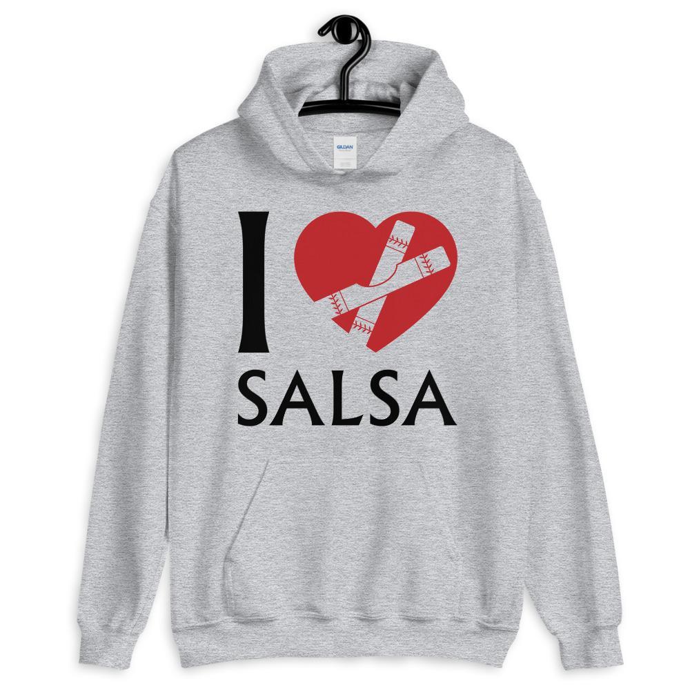 Salsa Dancing Hoodie Grey