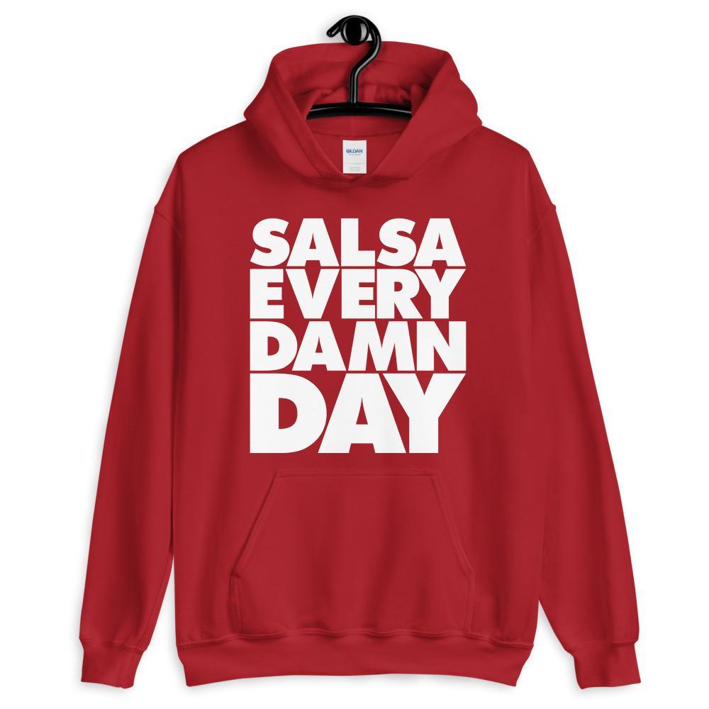 Salsa Dancing Hoodie Red