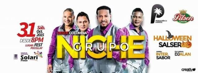 Este es el afiche oficial del Grupo Niche. (Imagen:Facebook/GrupoNichePáginaOficial)