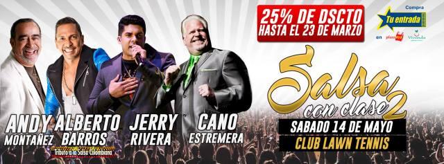 Afiche promocional del concierto 'Salsa con Clase 2'. (Imagen: Facebook)