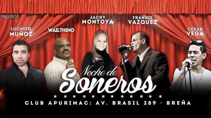 Afiche promocional de Noche de Soneros. (Facebook/RudhyFlores)
