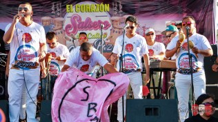 Marco y los Duros de la Salsa pusieron su cuota en la tarde chalaca. (Foto: Salserísimo Perú)