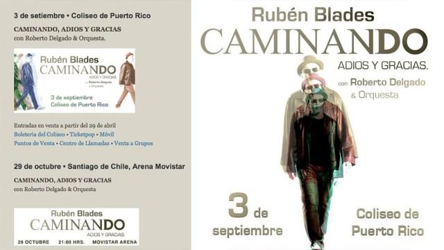 En la página web de Rubén Blades solo figuran dos fechas confirmadas para su gira de despedida: una en Puerto Rico y otra en Santiago de Chile. (Foros: Facebook/Rubén Blades)