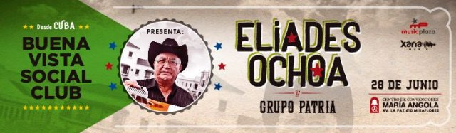 Afiche promocional de concierto de Eliades Ochoa en el María Angola. (Imagen: Facebook)