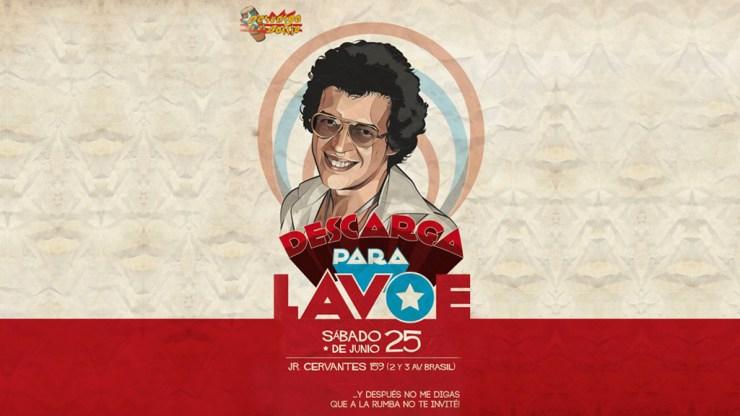 Afiche promocional de Descarga en el Barrio para Héctor Lavoe. (Imagen: Facebook/DescargaEnElBarrio)