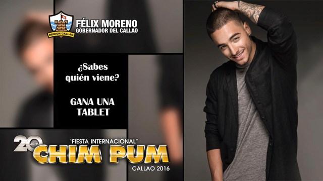 Imagen desenfocada (izquierda) y original (derecha) utilizada por el Gobierno Regional del Callao para anunciar a Maluma. (Foto: Facebook/Maluma)