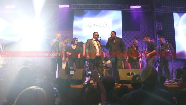 Todos los artistas invitados subieron a tarima para agreder al público que se dio cita en Barranco. (Foto: Salserísimo Perú / Antonio Alvarez)