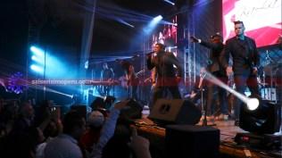Los coristas de NG La Banda tuvieron una importante participación en la noche. (Foto: Salserísimo Perú / Antonio Alvarez)