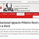 Granma de Cuba destaca las presentaciones del Septeto Nacional en Lima e Ica