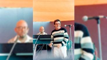 Héctor Lavoe durante uno de sus ensayos en Lima. (Foto: Mambo-Inn)