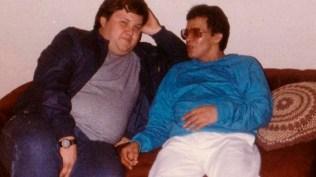 Héctor Lavoe junto a Hugo Abele. . (Foto: Mambo-Inn)
