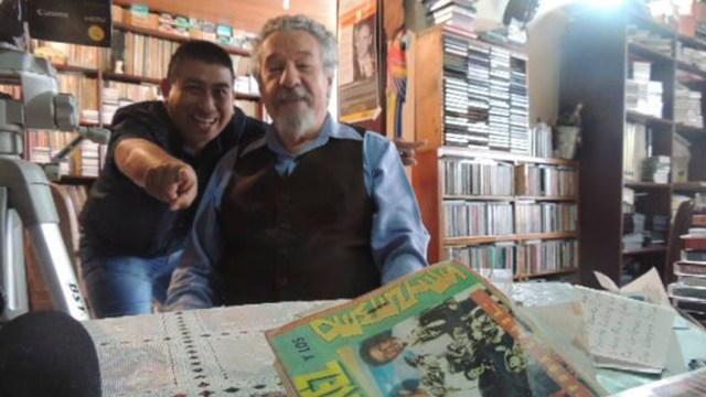 Don César Pagano junto a Martín Gómez, editor de contenidos de Salserísimo Perú. (Foto: Martín Gómez)