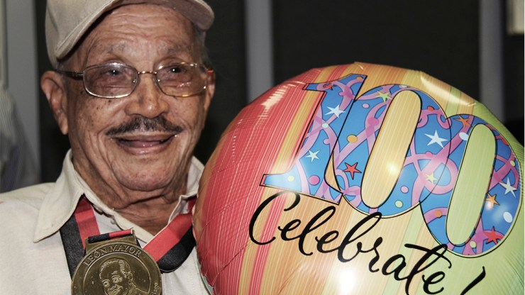 Don Quique Lucca en la celebración de sus 100, organizado por Z93. (Foto: Z93)