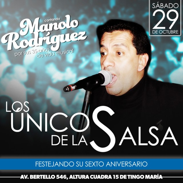 Afiche oficial del almuerzo salsero donde participará Manolo Rodríguez. (Imagen: Facebook/ManoloRodríguez)
