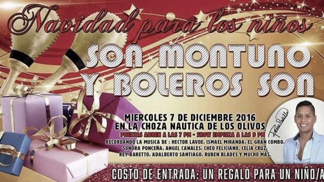 Afiche oficial del show de Renzo Padilla en la Choza Náutica a favor de los niños de Barrios Altos. (Imagen: Facebook/RenzoPadilla)