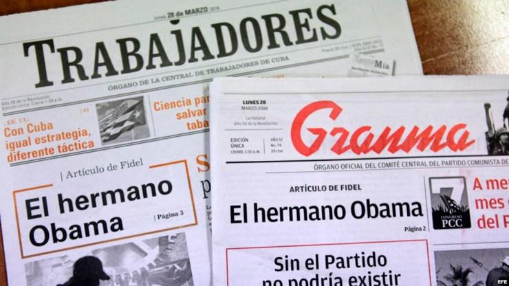 Este es el artículo publicado por Fidel Castro que responde el cantautor cubano Manolín. (Foto: Cortesía de martinoticias.com)