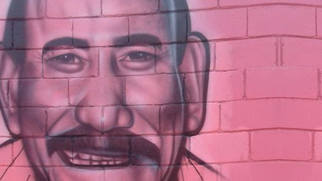 Mural de Charlie Aponte pintado en Las Caras de Atahualpa. (Foto: Facebook/LasCaras)