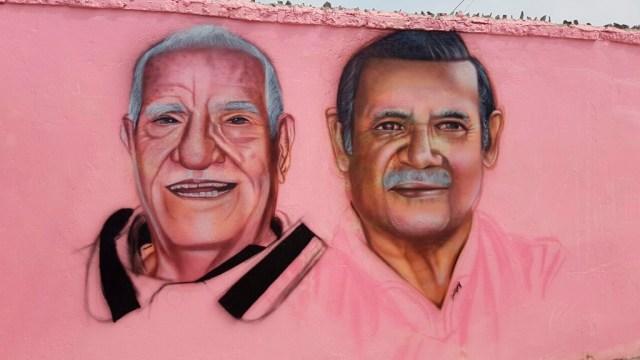 Murales de Carlos Loza y Luis Rospigliosi en el Callao. (Foto: Johnny Peña)