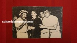 César Loza junto a Frankie Ruiz en el concierto en el que compartieron tarima en La Máquina del Sabor de la Herradura, el 3 de enero de 1987. (Foto: Cortesía César Loza)