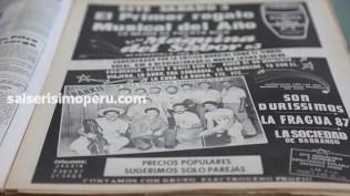 Otra publicidad del concierto de Frankie Ruiz en la Máquina del Sabor. (Foto: Antonio Alvarez F/Salserísimo Perú)