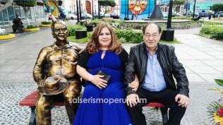 Déborah Rospigliosi y Yolvi Traverso se reencontraron después de varios años. (Foto: Daniel Alvarez / Salserísimo Perú)