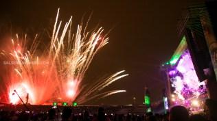 Fuegos artificiales de dieron color al cielo chalaco durante la presentación del Niño bonito de la Fania. (Foto: Antonio Alvarez F./Salserísimo Perú)