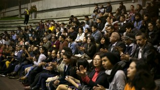 Luego del conversatorio el público se dirigió al anfiteatro de la Biblioteca Nacional para escuchar en vivo a Luisito Carbajal y orquesta. (Foto: Antonio Alvarez F./Salserísimo Perú)