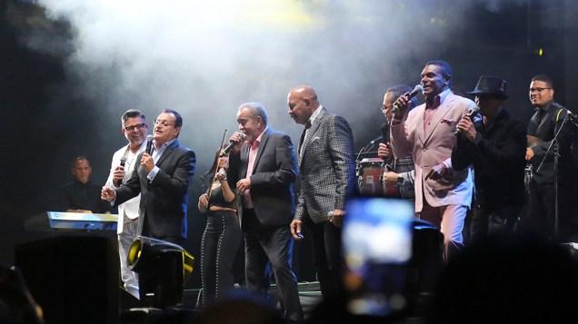El concierto cerró con todos los artistas soneando en tarima. Un aniversario bien celebrado de Gilberto Santa Rosa. (Foto: Antonio Alvarez F./Salserísimo Perú)
