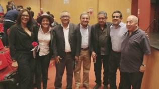 Gloria Bonilla, Cristina Varela, Agustín Pérez, Alejandro Leonarte, Eloy Jáuregui, Eduardo Livia y Umberto Valverde, de izquierda a derecha. (Foto: Fernando Olivera / Salserísimo Perú)
