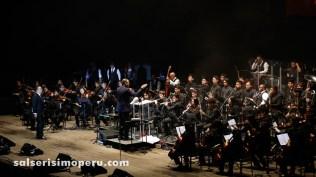 A Gilberto se le notó disfrutando del show en cada momento. (Foto: Daniel Alvarez F. / Salserísimo Perú)
