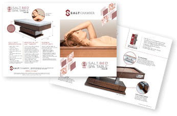 product brochure S.A.L.T. Bed®  Spa Table™