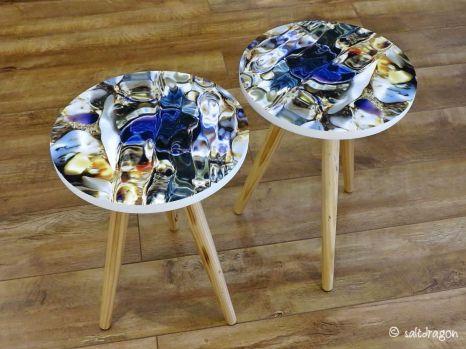 pair of bespoke side tables