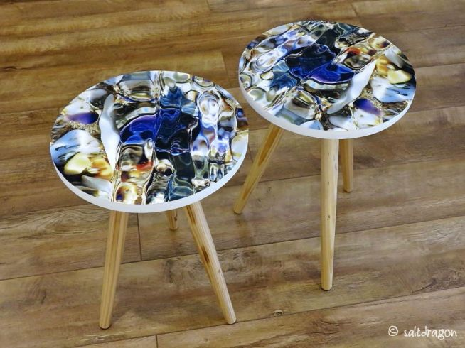 pair of bespoke side tables