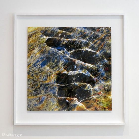 Ripples of Light - HD metal print float mounted in white tulipwood