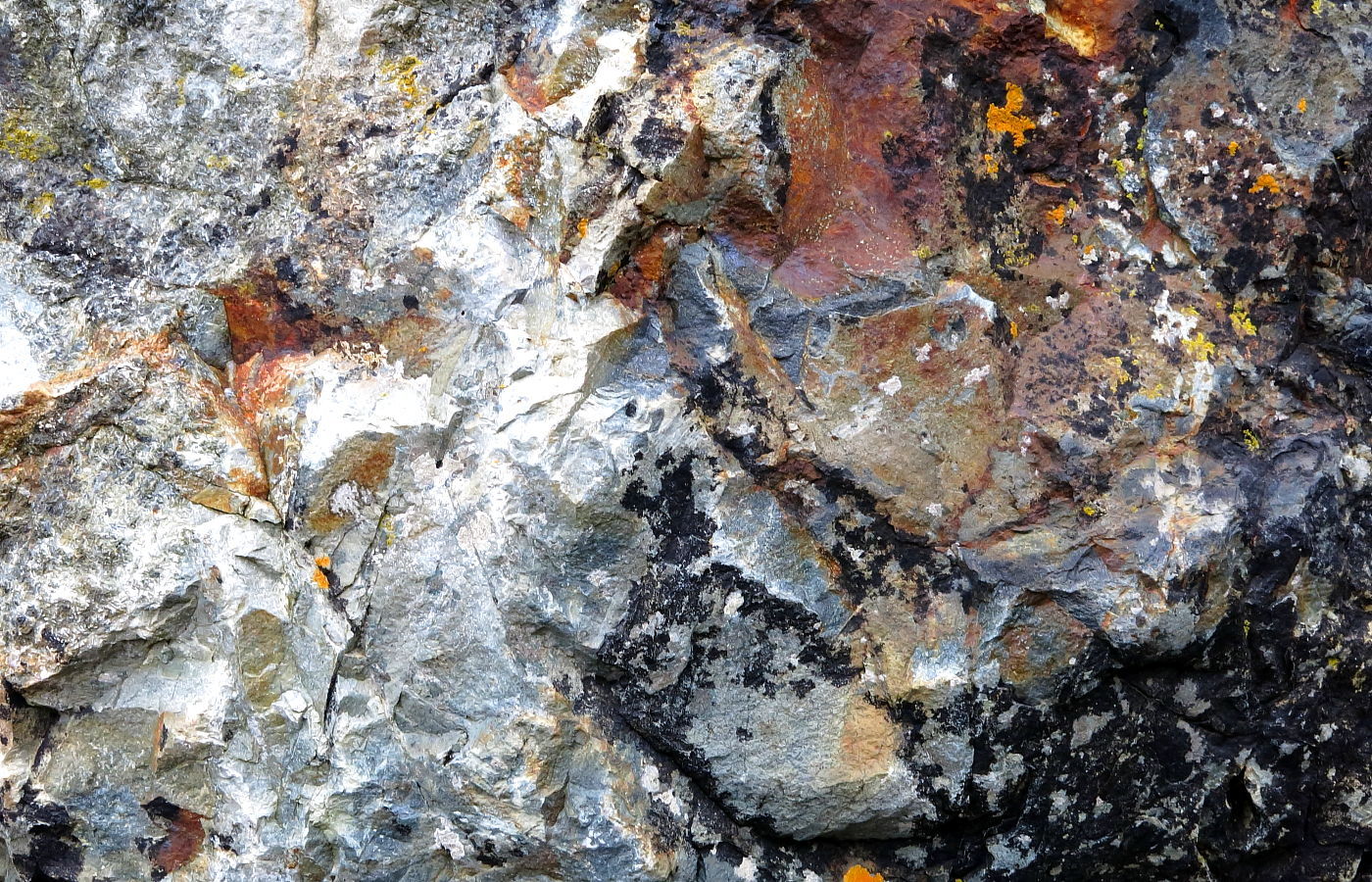 Rock abstract near St Ives