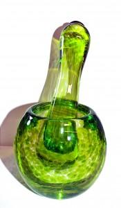 ©SALTglassstudios. Glass Lime Green Pestel & Mortar Gallery.DSCF5965