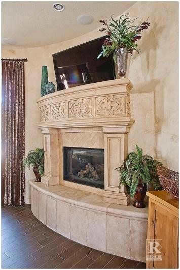 cantera fireplace surround