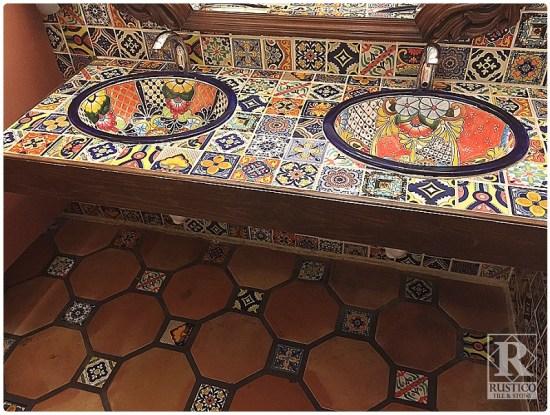 Octagon Saltillo with Talavera Tiles