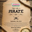 FREE Donuts for Talk Like a Pirate Day at Krispy Kreme on 9/19