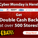 Double Cash Back for Cyber Monday!