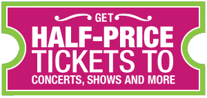 Half price tickets for Salt Lake City area entertainment and events