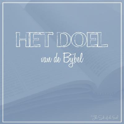 doel van de Bijbel